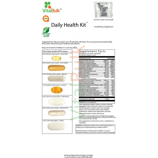 Daily Health Kit (30 counts) Vitalbulk (VitalBulk) by Vitanord.eu