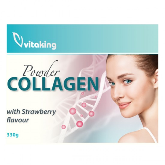 Powder Collagen With Strawberry Flavour (330g) (Vitaking) by Vitanord.eu