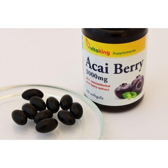 Acai Berry ekstrakt 20:1 3000 mg (60 softgels) (Vitaking) by Vitanord.eu