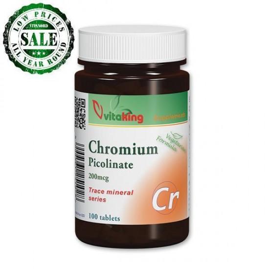 Chromium Picolinate 200 mcg (100 tablets) (Vitaking) by Vitanord.eu