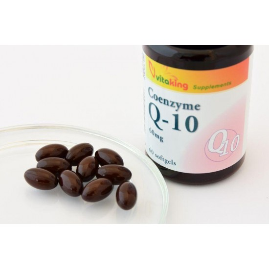 Coenzym Q10 - 60 mg (60 softgels) (Vitaking) by Vitanord.eu