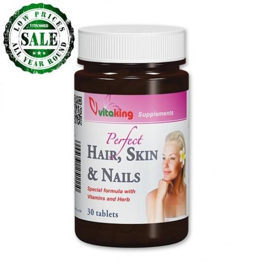 Hår, hud & negle kosttilskud (30 tabletter) (Vitaking) by Vitanord.eu