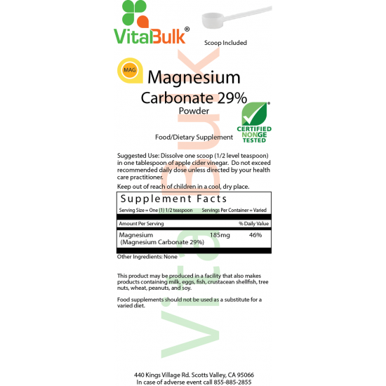 Magnesiumcarbonat 29 Pulver (8 OZ) VitalBulk (VitalBulk) by Vitanord.eu