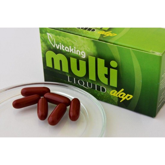 Multi Liquid Basic Flydende Multivitamin (30 softgeler) (Vitaking) by Vitanord.eu