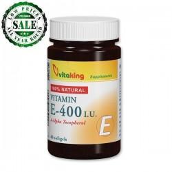 Naturligt vitamin E 400IU (60 kapsler)