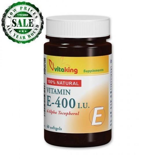 Naturligt vitamin E 400IU (60 kapsler) (Vitaking) by Vitanord.eu