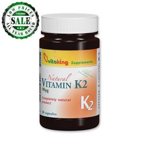 Naturlig Vitamin K2 (30 kapsler) (Vitaking) by Vitanord.eu