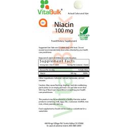 Niacin (Vitamin B-3) 100 mg (100 tabletter) VitalBulk