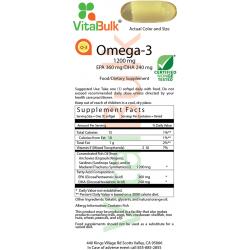 Omega-3 1200mg (100 Softgels) VitalBulk