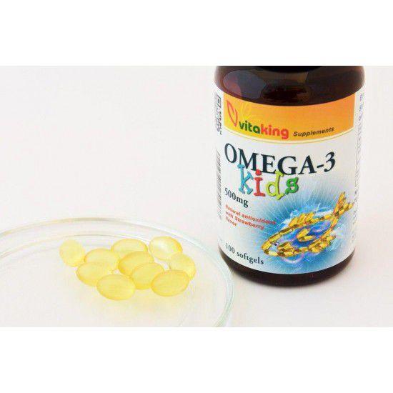 Omega 3 Kids med jordbærsmag (100 softgel) (Vitaking) by Vitanord.eu