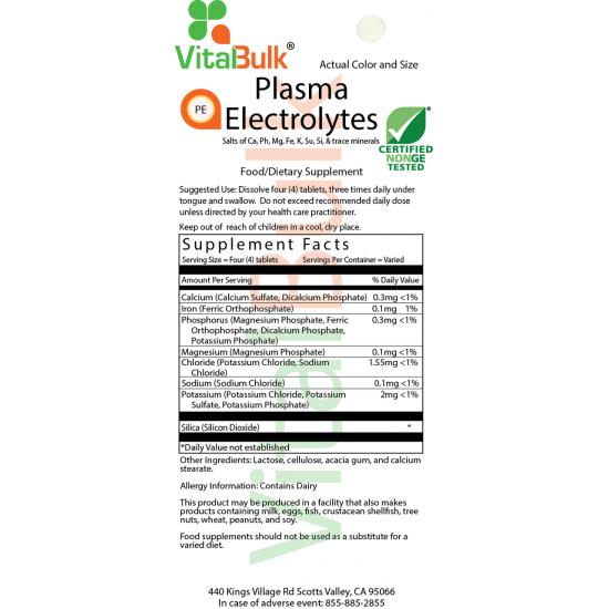 Plasma elektrolytter tablet (2 ounce taske) VitalBulk (VitalBulk) by Vitanord.eu